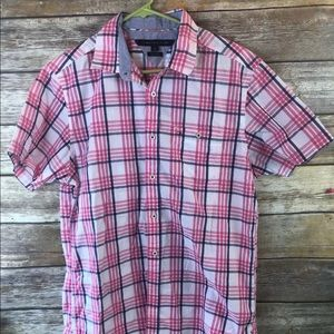 Tommy Hilfiger pink Button down shirt M custom fit